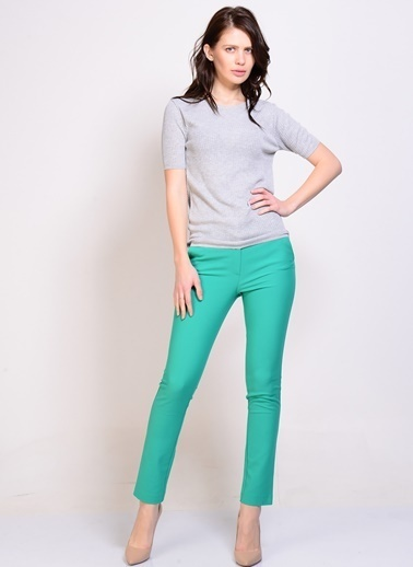 Limon Company Slim Fit Pantolon Yeşil